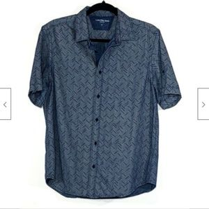 Calvin Klein Jeans Roll Tab Button Down Shirt Blue